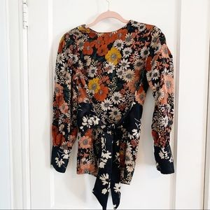 Zara | Floral Long Sleeve Blouse